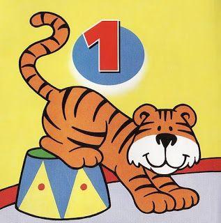 aprendendocomtiadebora: Numerais de animais colorido para decorar sala (1-10)