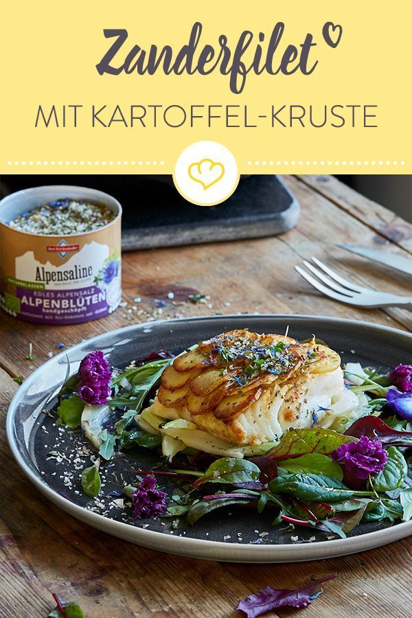 Photo of Zanderfilet mit Kartoffelkruste auf Fenchel-Kräuter-Salat