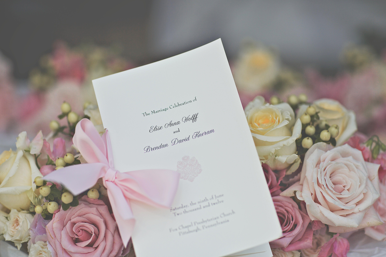 BowTied Ceremony Programs Ceremony programs, Wedding