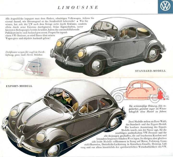 VW Volkswagen Beetle Brochure 1955  ..http://on.fb.me/13SrzJX