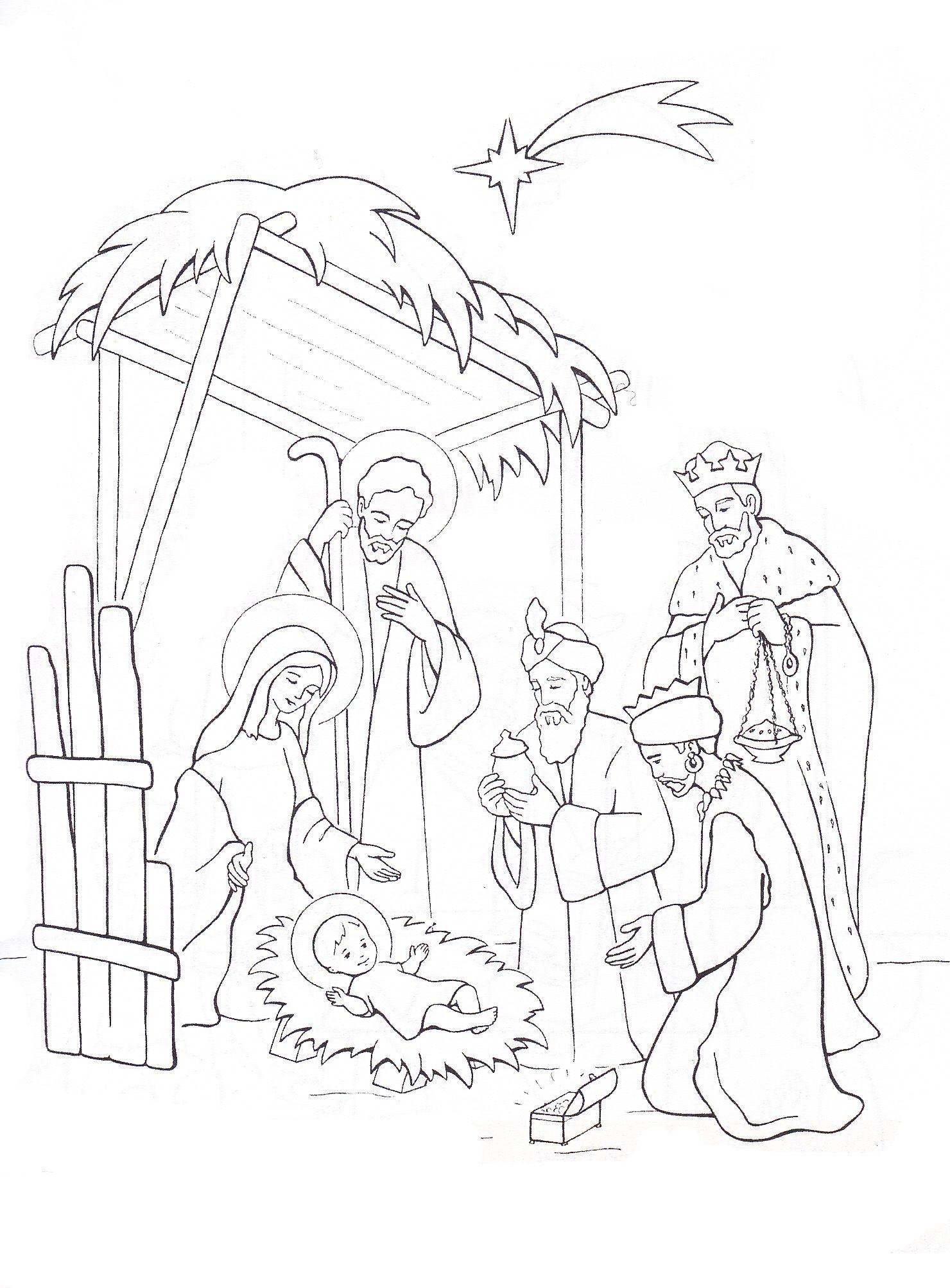 Kelahiran Yesus Sunday School Coloring Pages Nativity Coloring Pages Christmas Coloring Pages