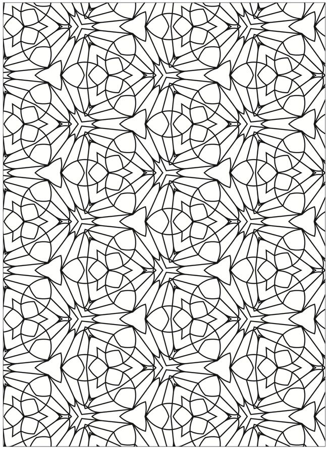Tessellations Coloring Page 2 Coloring Pages Pattern Coloring Pages Mandala Coloring Pages