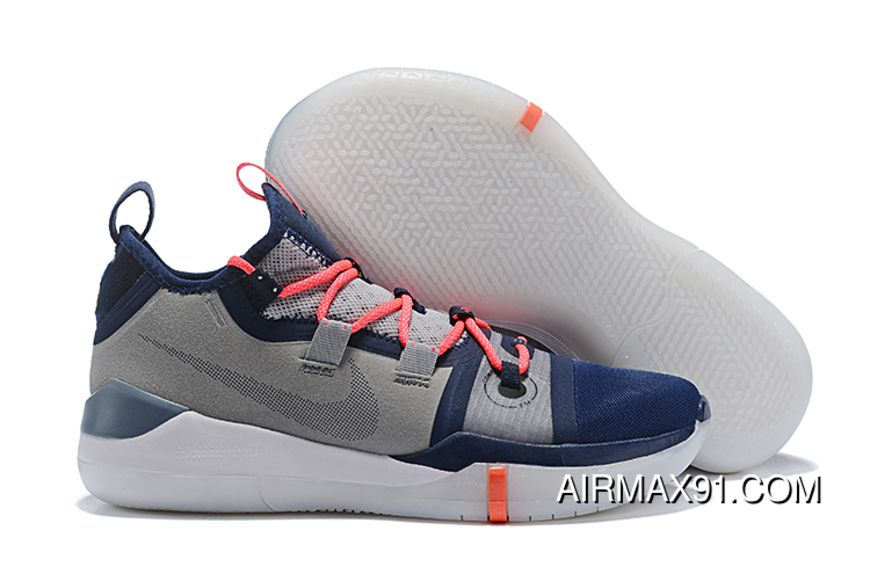 the latest ab9a5 343e4 Nike Kobe Ad Exodus Wolf Grey Navy Blue-Crimson Top Deals