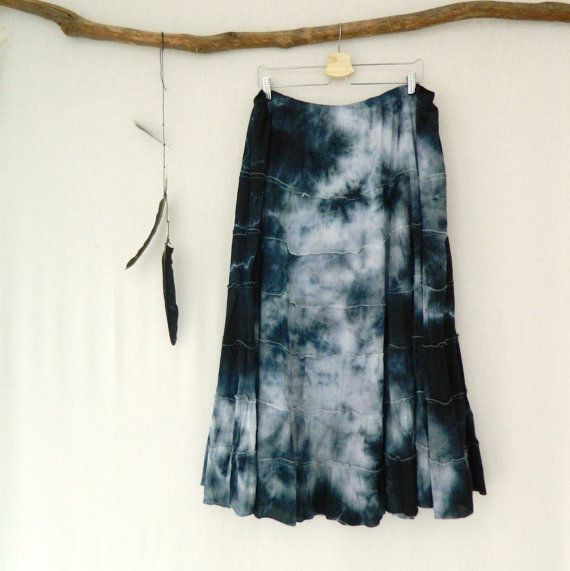 WAYFARER . women's tie dye maxi skirt . plus size by bohemianbabes