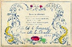 victorian family calling cards | Little Women | Pinterest ...
