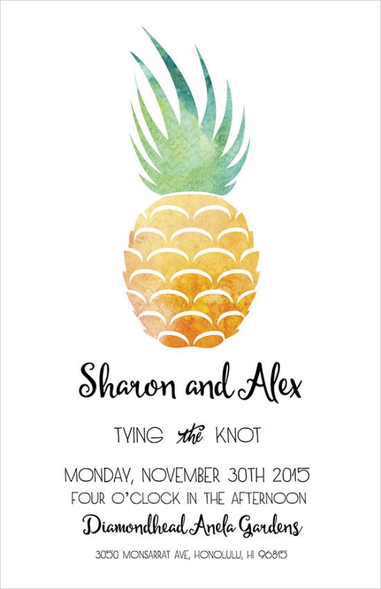 invitation pineapple  weddingchicks