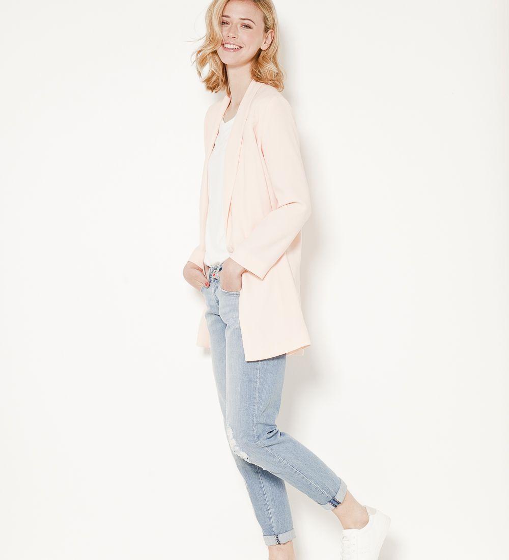 Poudré Pinterest Spring 2017 Camaïeu Fashion Rose Veste Longue zfqxEP7H0w