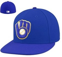 0a2a8f0e2b0 Milwaukee Brewers New Era Royal Blue On-Field 59FIFTY Fitted Hat  32.95 now   24.69 Save