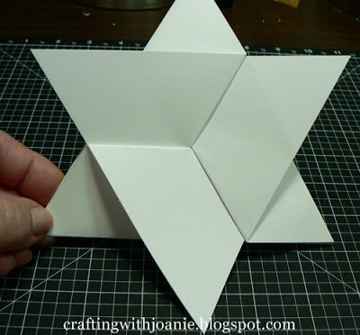 crafting with joanie how to make a star fold card papercraft