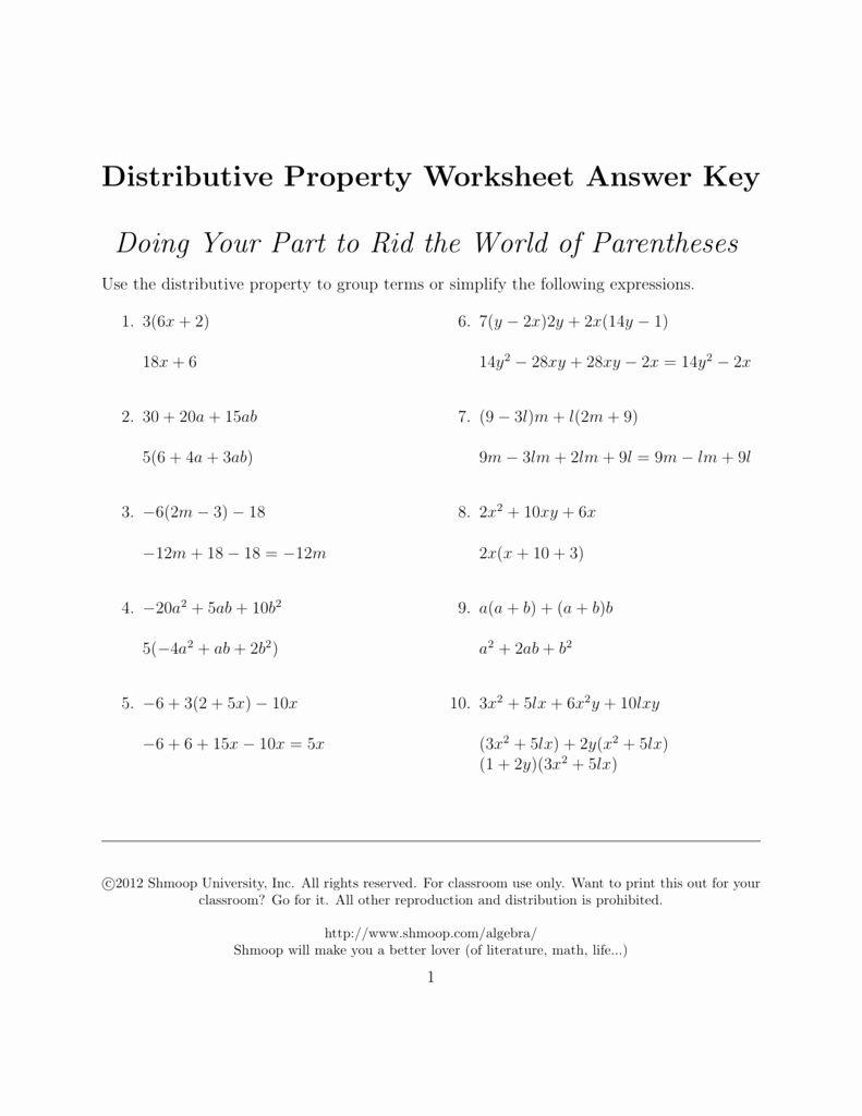 Distributive Property Worksheet Answers Fresh Distributive Property Answers In 2020 Algebra Worksheets Persuasive Writing Prompts Pre Algebra Worksheets