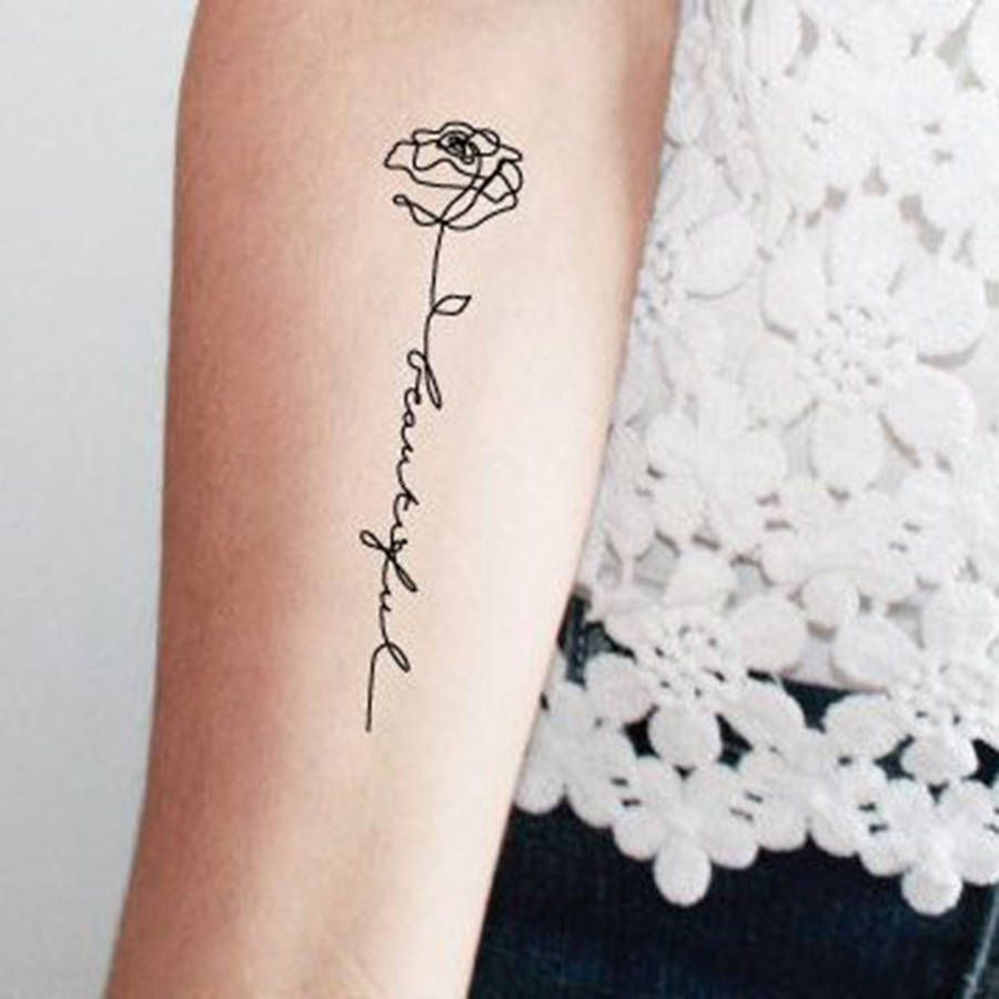 Tatouage Rose Avec Phrase My Love For Tattoos Tattoos Word