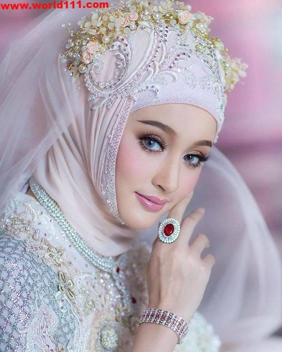 صور بنات محجبات جميلات بالحجاب اجمل الصور للبنات المحجبة صور العالم اجمل الصور Bridal Hijab Styles Bridal Hijab Wedding Hijab Styles