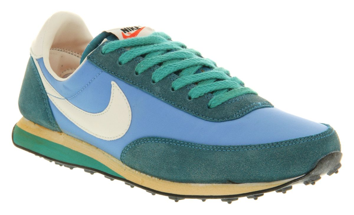 Mens Nike Elite Vintage Coast Blu/green Trainers Shoes ...
