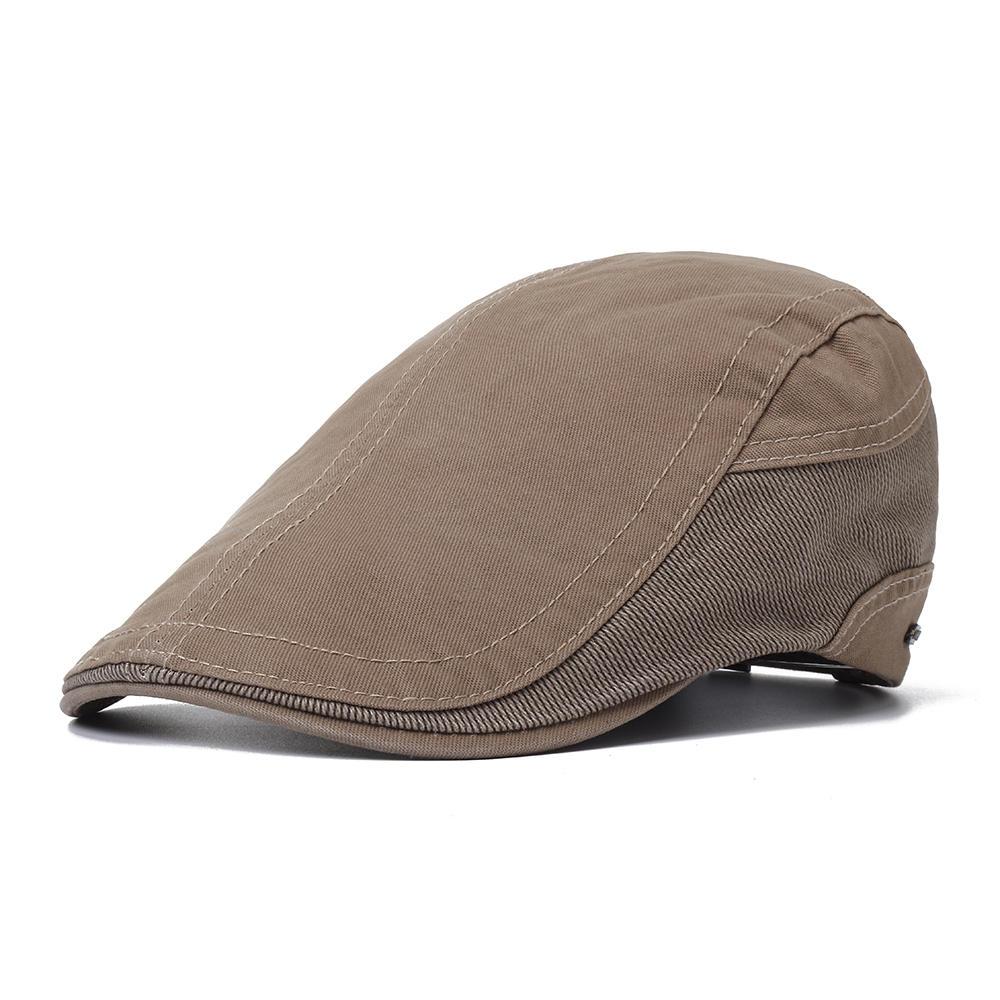 51d2cab662622 Mens Outdoor Summer Patchwork Breathable Beret Hat - Banggood Mobile ...