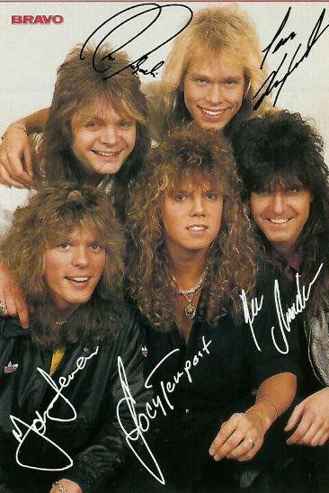 1987 Europe Autogrammkarte Europe Band 80s Hair Bands Pop Rock Bands