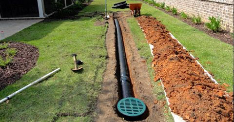 Gutter water drainage we specialize in the installation for Garden drainage system