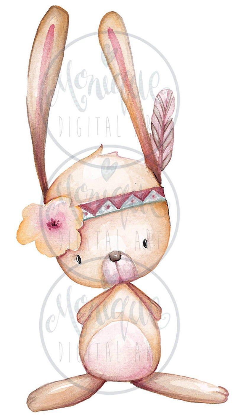Woodland Nursery Animals Clipart Planner Clipart Watercolor Etsy Animal Nursery Animal Clipart Animal Nursery Art
