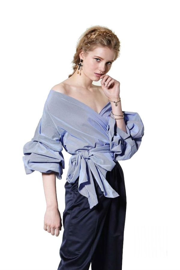 b45c554522 Ruched sleeve top by Sorets  newseason  top  ruchedsleeve  fashion   spanishstyle