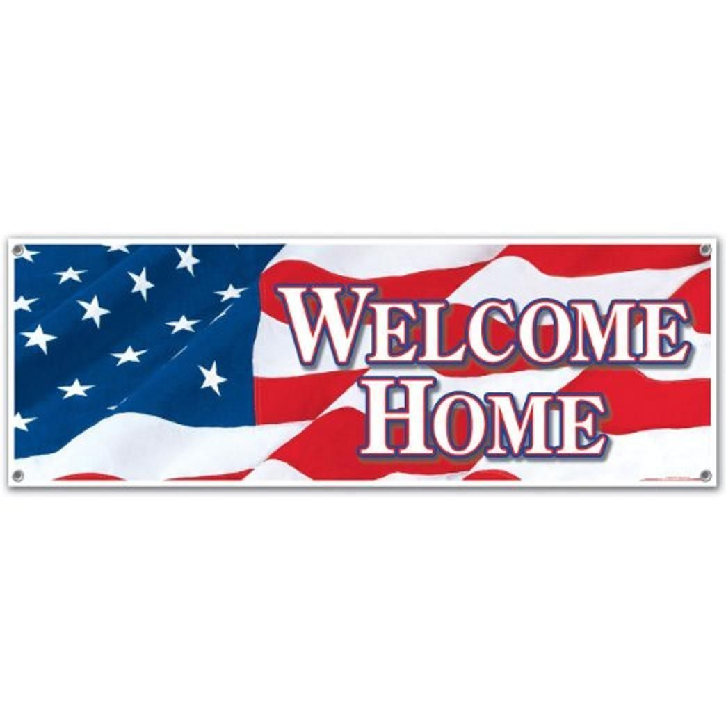$5.99 - Jumbo Welcome Home Sign Banner Party Accessory 5 Ft X 21 ...