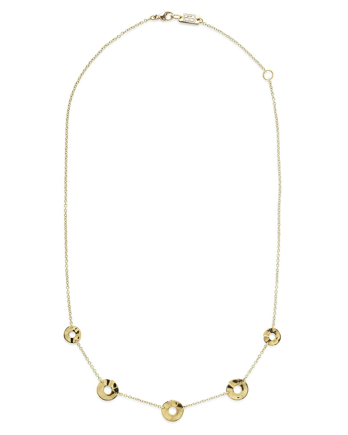 Ippolita 18K Senso & 153 Disc Five-Station Necklace, 18