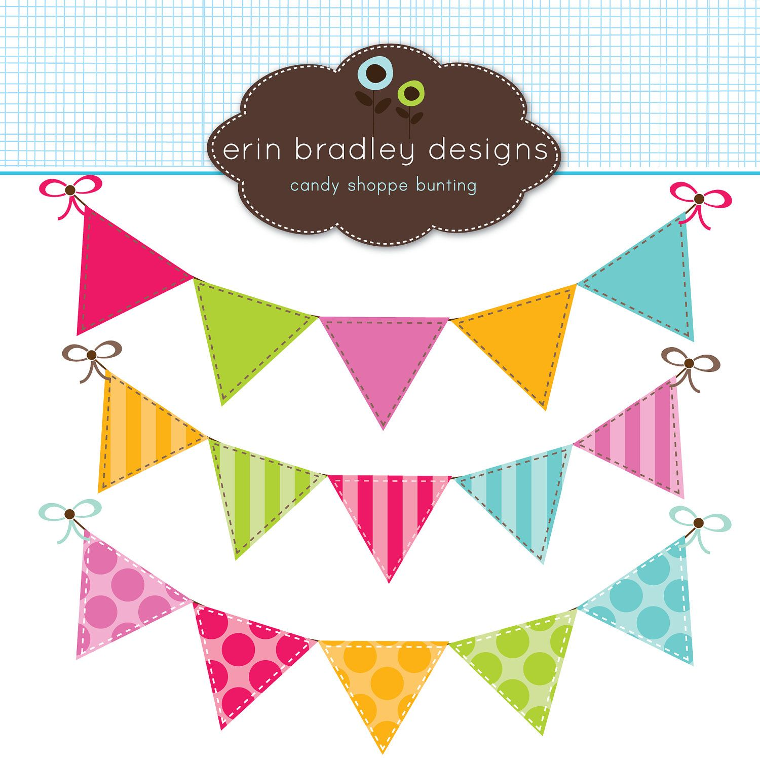 Vector bunting flags lovely celebration card with colorful paper - Colorful Bunting Clipart Clip Art Banner Flags For Personal Commercial Use