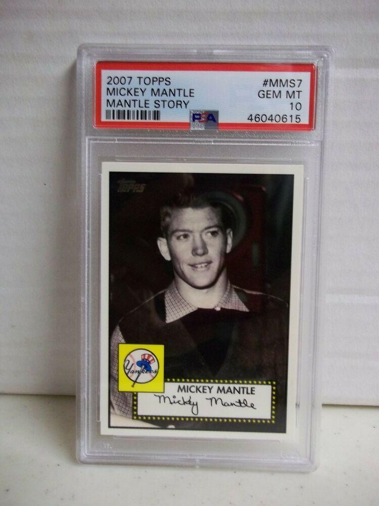 2007 Topps Mickey Mantle Psa Gem Mint 10 Baseball Card Mms7 Hof Pop 6 Ebay In 2020 Baseball Cards Mickey Mantle Mantle