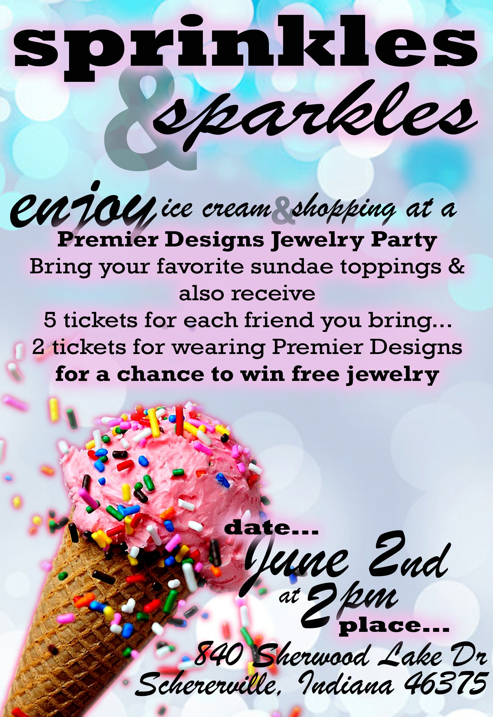 Nom Ice Cream Party Invite Or For Those Entrepreneurs Out There Customized Templates Jewelry Bags Etc Invites Any