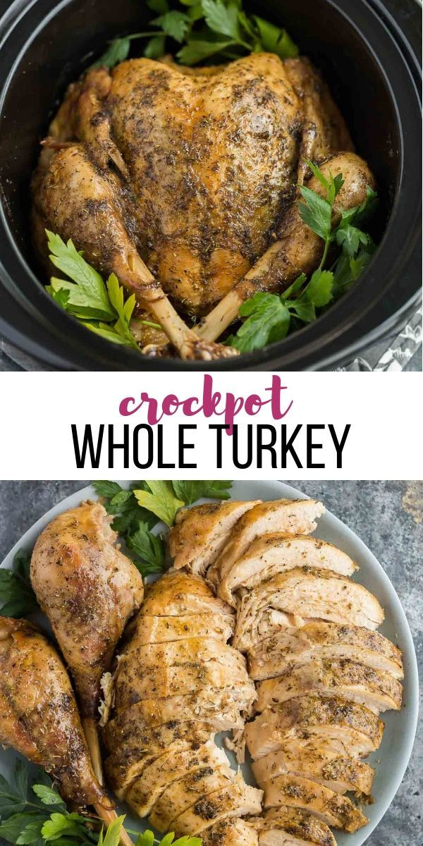 Photo of This easy Crockpot Turkey recipe is for those who don't want to be bothered with…