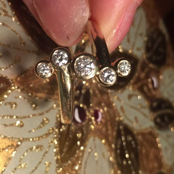 Sale  Make Offer Vintage 14K YG Diamond Bubble by Gardensthedream