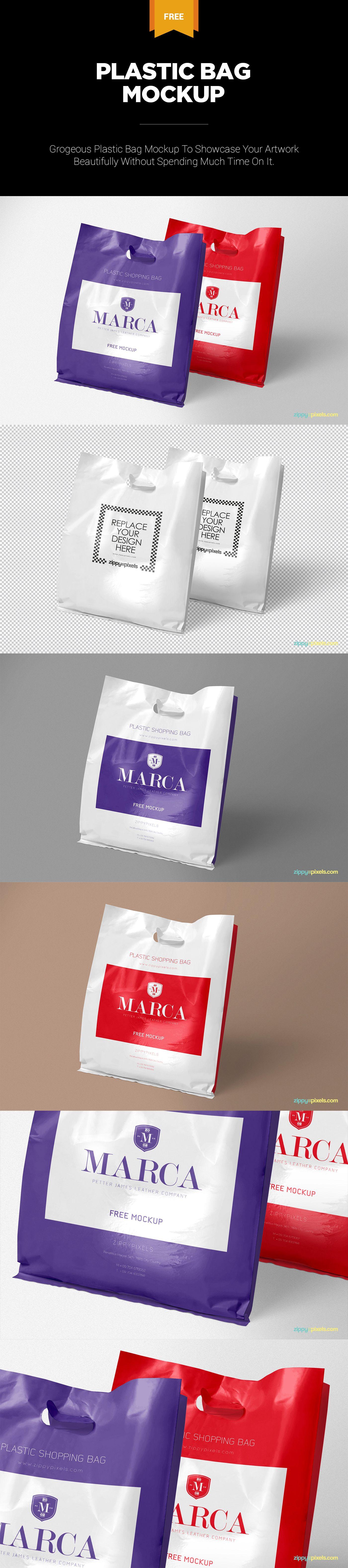 Download Free Plastic Bag Mockup Zippypixels Packaging Mockup Bag Mockup Graphic Design Packaging