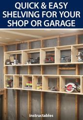 Photo of Quick, Easy Shelving for Your Shop or Garage  Put up a quick and easy shelving s…
