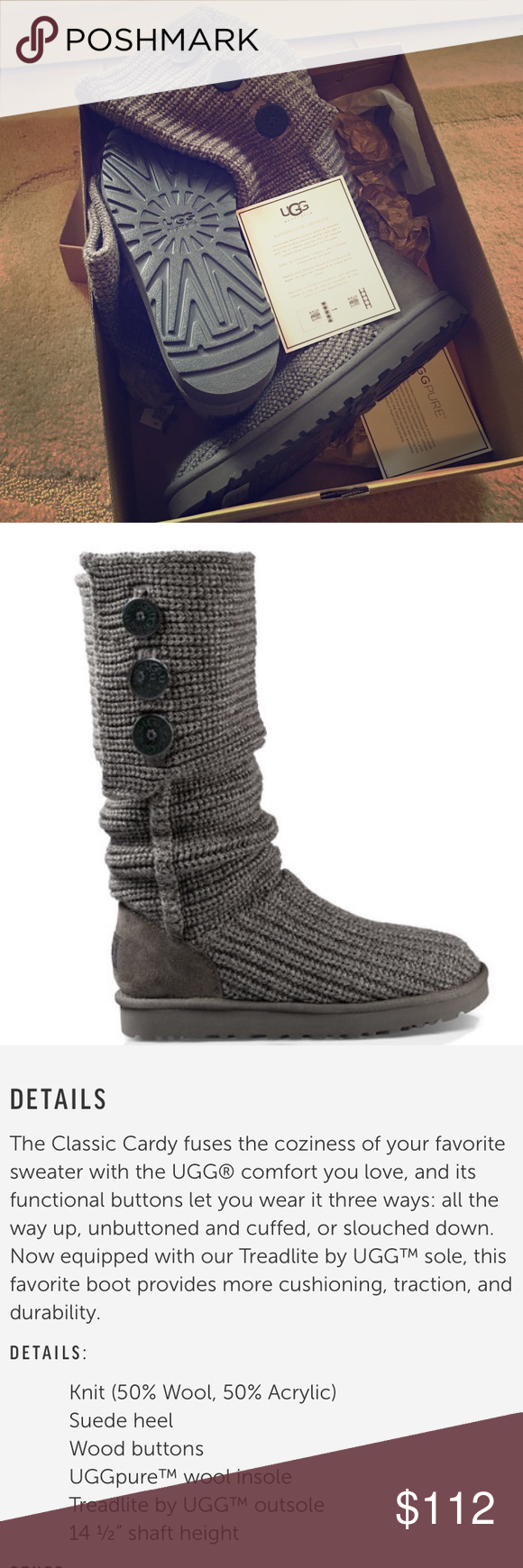 63de5707bea australia ugg cardy boots size 10 7e161 8a7a1