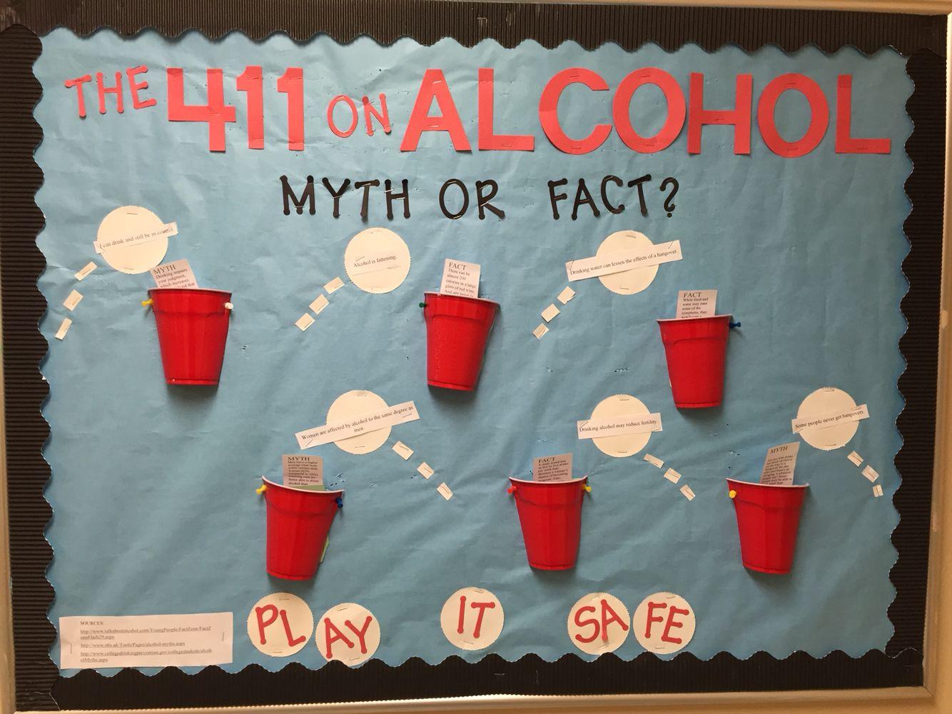 Bulletin board I made for alcohol awareness!! RA RALife