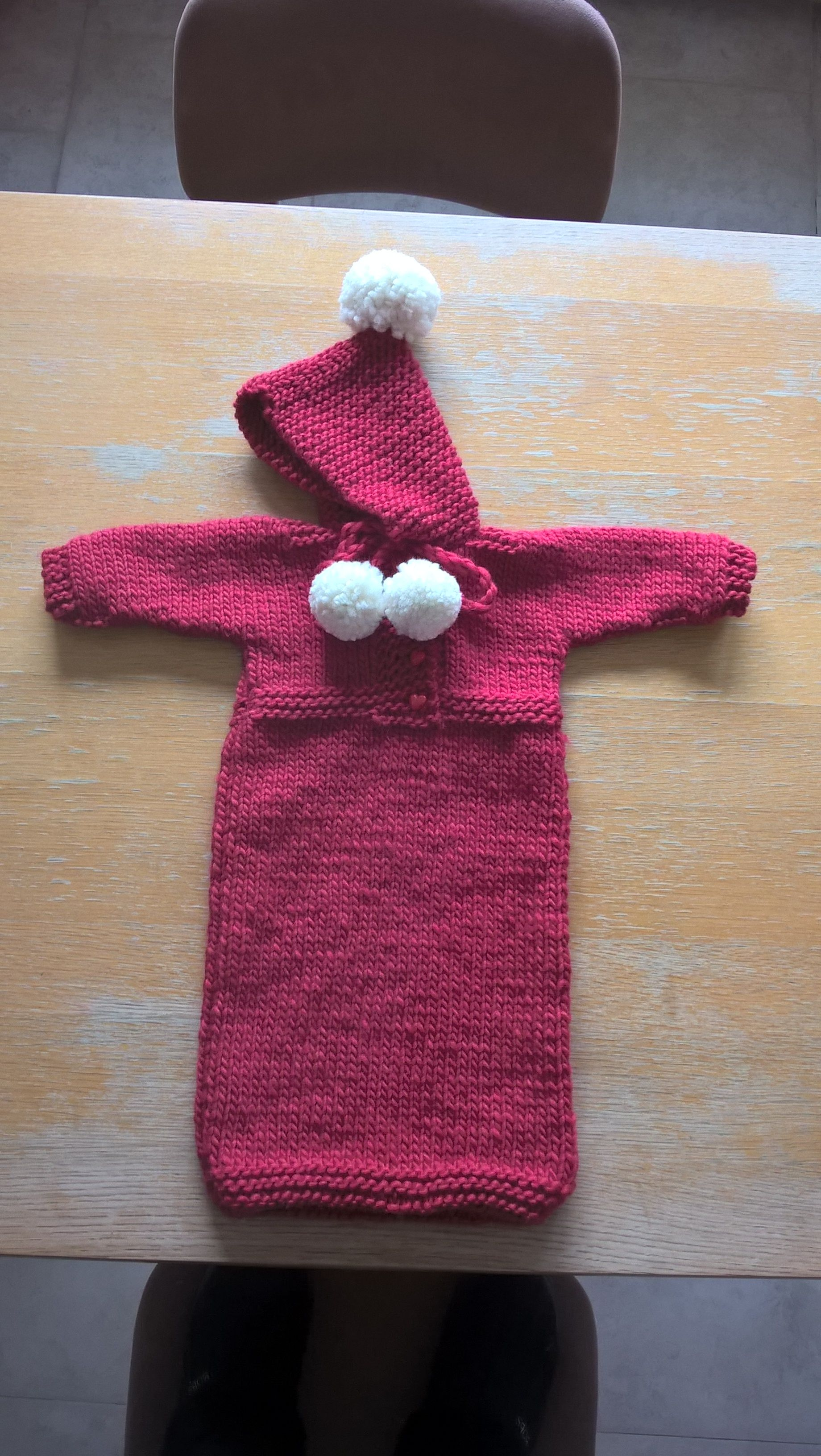 Knitted Baby Bunting Bag (made in 2015) Baby bunting bag