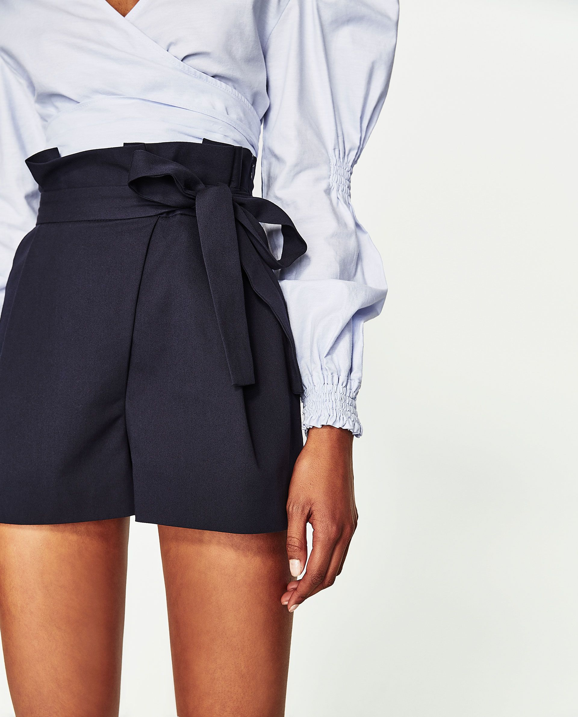 Image 6 of PLEATED BERMUDA SHORTS WITH BOW from Zara  9b0feff91c5