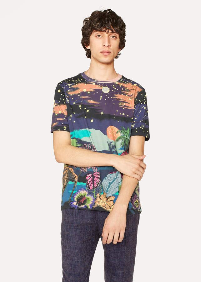 90235c2ff244 Paul Smith Men s Slim-Fit  Midnight  Print Cotton T-Shirt