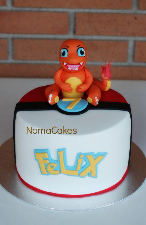 Fine Tarta Pokemon Charmander Tortas De Pokemon Tarta Pokemon Y Funny Birthday Cards Online Elaedamsfinfo