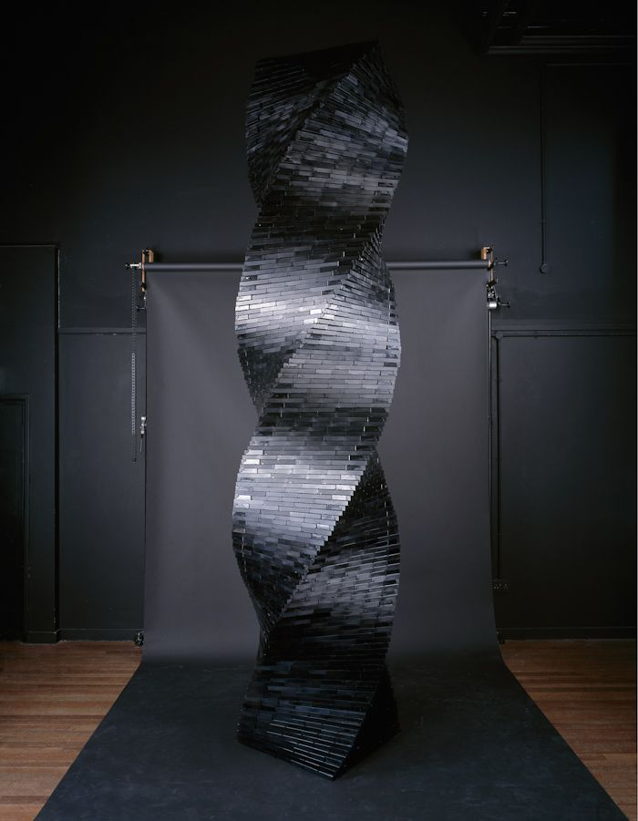 Old Vhs Tapes Repurposed Into Sculptural Installations Tape Sculpture Tape Art Sculpture Installation