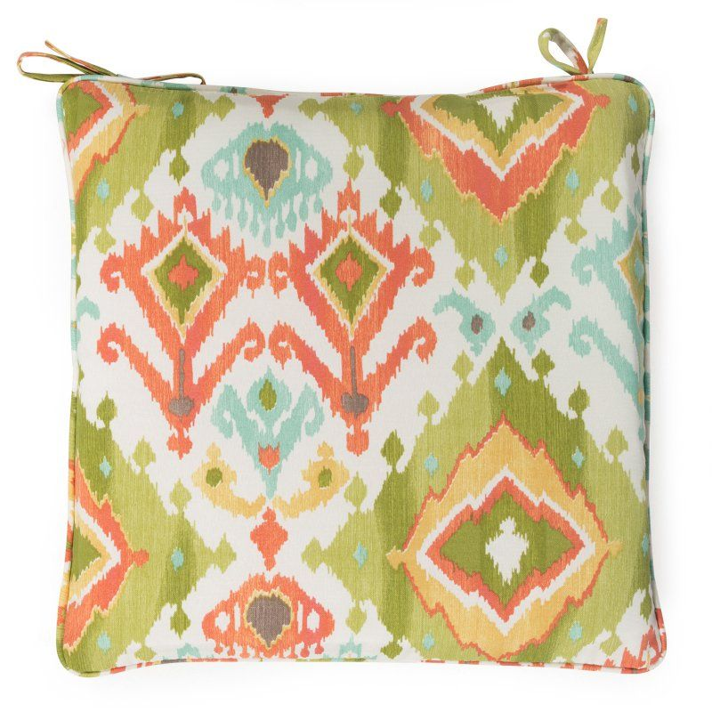 Awesome Coral Coast Tuscany 17 X 17 In. Outdoor Corded Chair Cushion Lavezzi  Grasshopper   HNCS5855