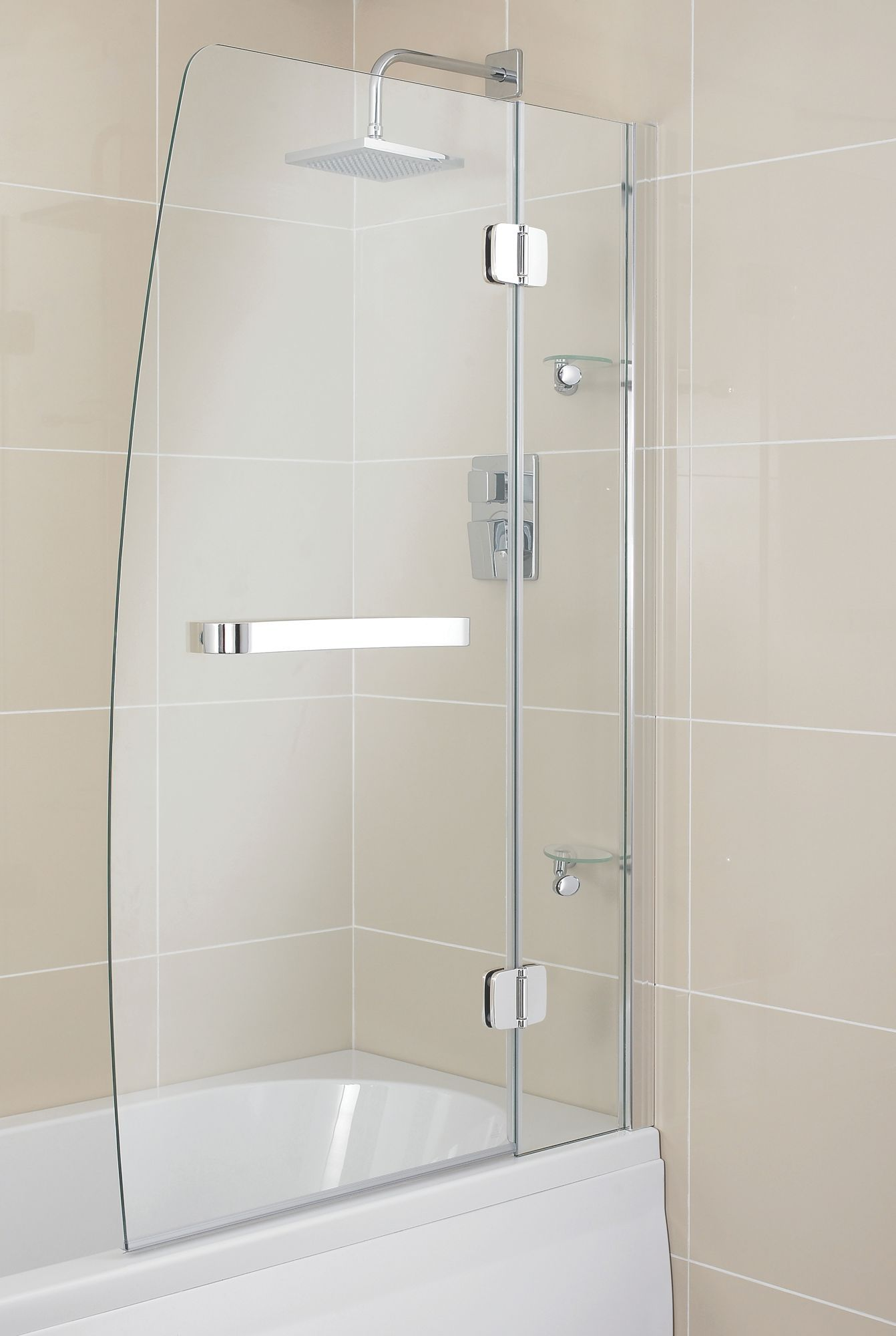 Cooke & Lewis Folding Sail Bath Screen (W)950mm | Rooms | DIY at