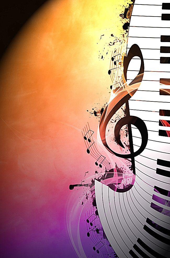Decoração de piano, Notas De Piano, Cartazes, Leve, Imagem de fundo ...