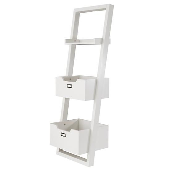 Little Sloane Leaning Bookcase White