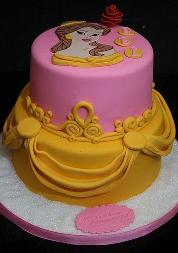 Princess Belle Cake With Images Belle Cake Princess Belle