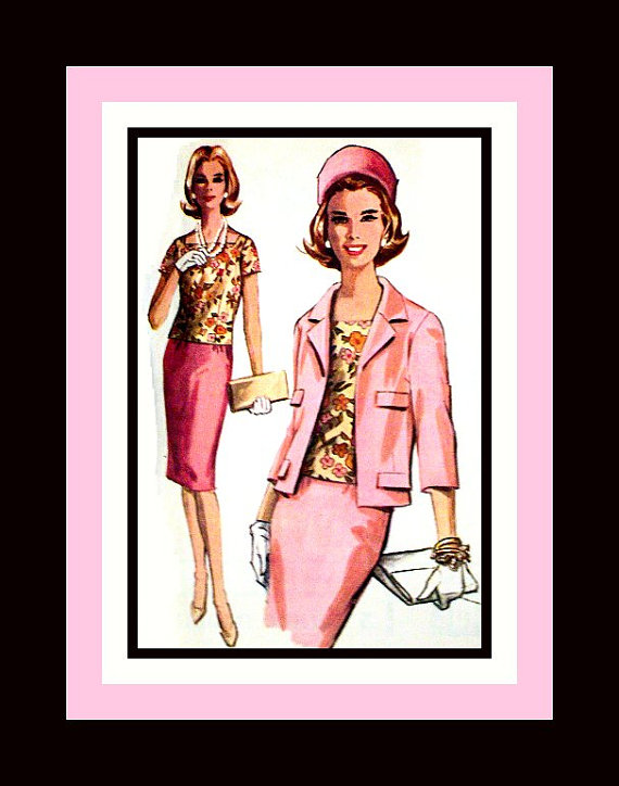 Vintage 1963 -Adapation of COCO CHANEL Ladies Suit -Sewing Pattern ...