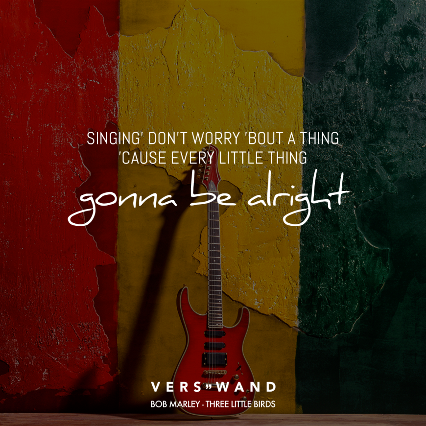 Singing' don't worry 'bout a thing 'cause every little