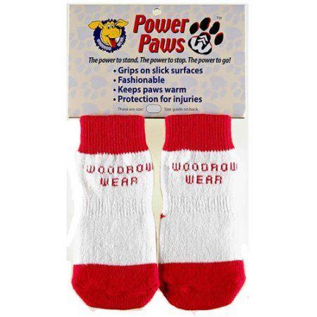 Woodrow Wear Power Paws Advanced, Small, Red/White Strip, 1.75 inch - 2.0 inch x 1.75 inch - 2.0 inch, Size: XS