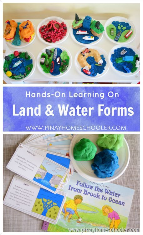 Hands-On Learning: Land and Water Forms   Kindergarten