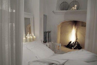 Slaapkamer Met Openhaard : The romance *bedroom* slaapkamer haard en thuis