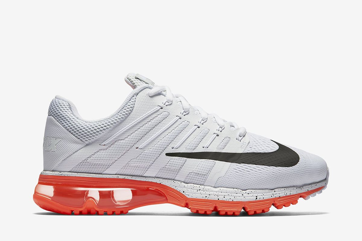 best website 4396b 68d29 Nike Air Max Excellerate 4 Premium Men s Running Shoe  Summit White Total  Crimson White Black