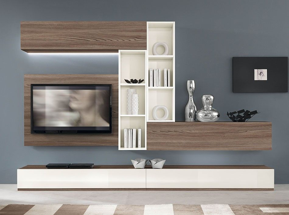 Contemporary italian wall unit vv 3905 2 italian wall units pinterest living for Wall units for living room mumbai